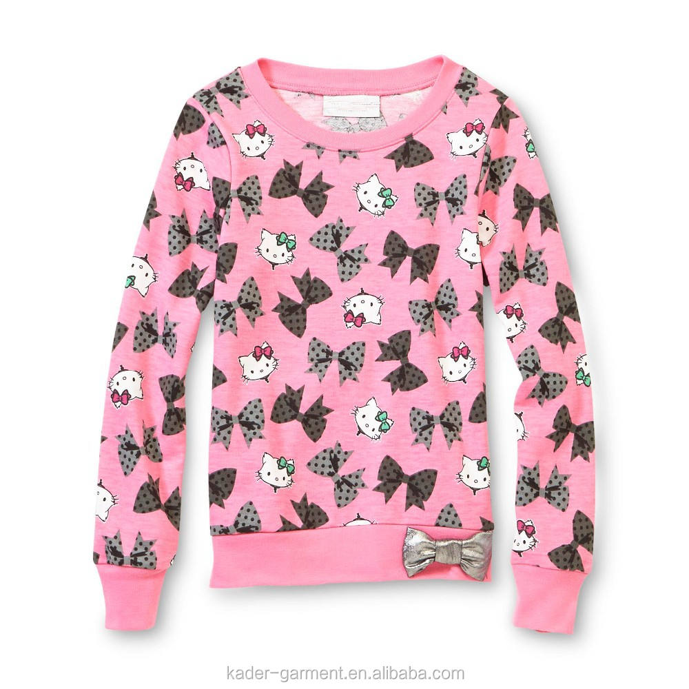 Girls Sweatshirt Hello Kitty Pink Sweatshirt