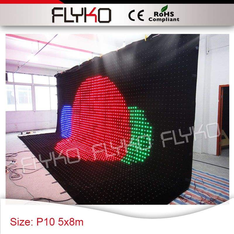 5m x 8m display stage effect best selling products P10cm club party decorations indoor flexible curtain
