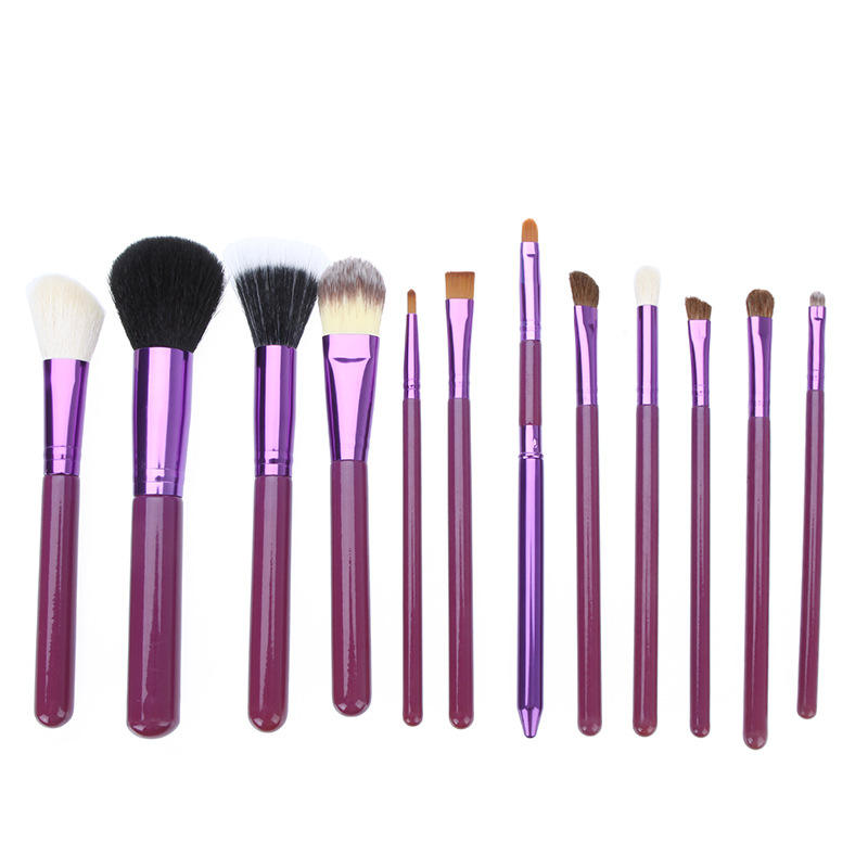 12 stücke air pinsel make-up set mit make-up pinsel halter eimer