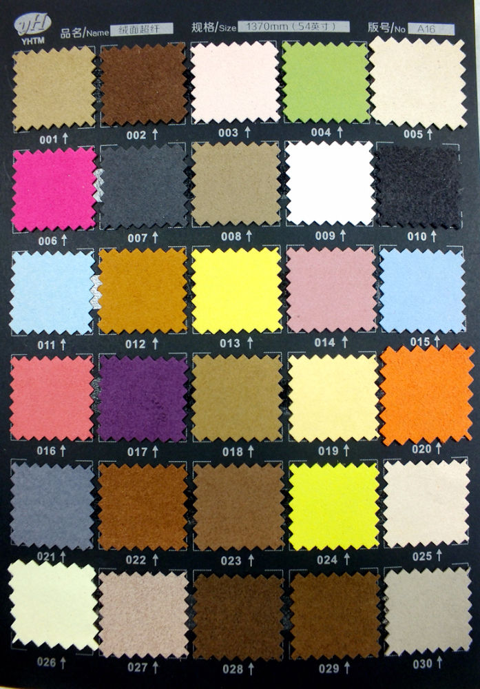 Newly design microfiber coloful suede leather faux best quality suede leather