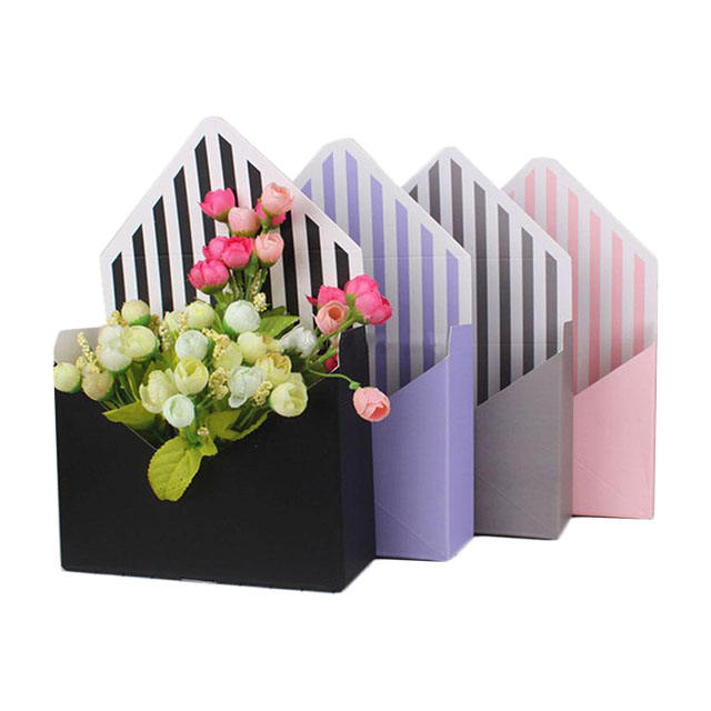High quality flower box shaped envelopes for gift with custom logo