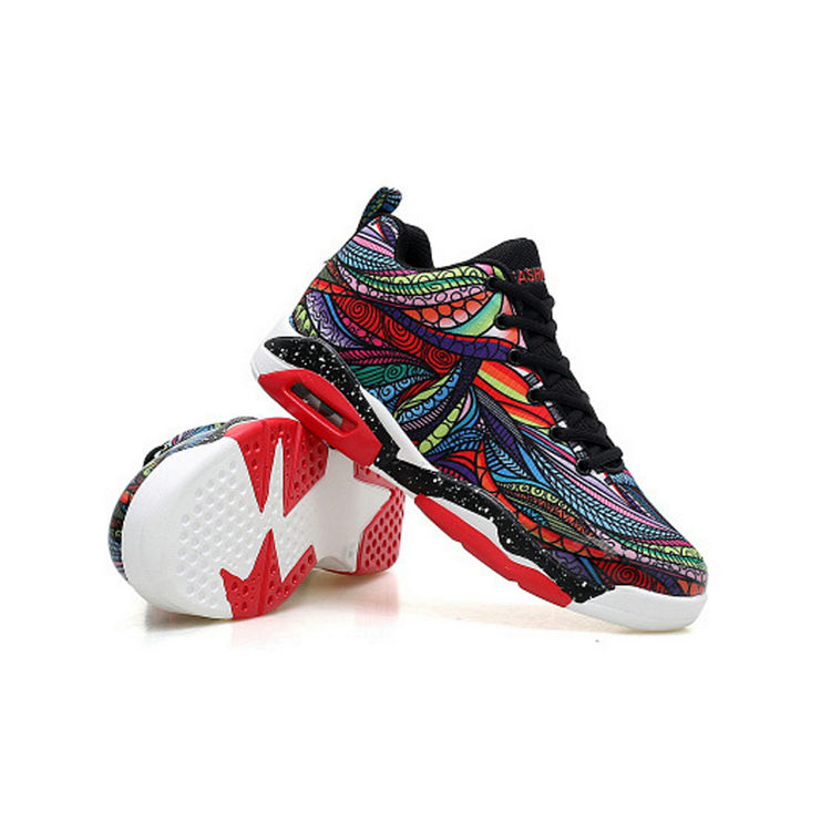 Brand creative pattern breathable men basketball air shoes custom basketball shoe