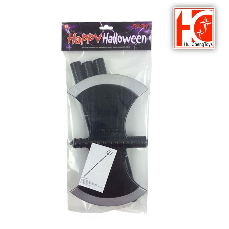 Halloween apoyos del funcionamiento Kito hoz juguetes grandes de los niños, plástico de doble cara AX trigémino EN71 venta