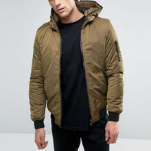 Sports apparel blank bomber mens jackets wholesale winter coat