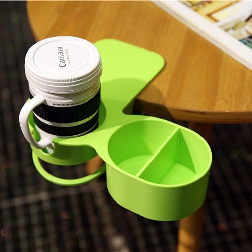 Fun Cup Support Clip Portable Pince Robuste Sur Table Porte-Gobelet avec Super Pinces Fortes