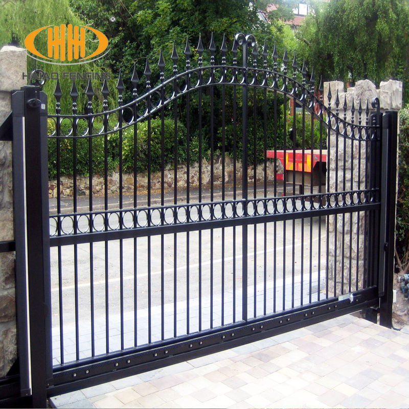 High quality best price unclimbable steel fence gate designs simple