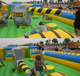 Customized sport inflatable sweeper game for sale adult inflatable obstacle course