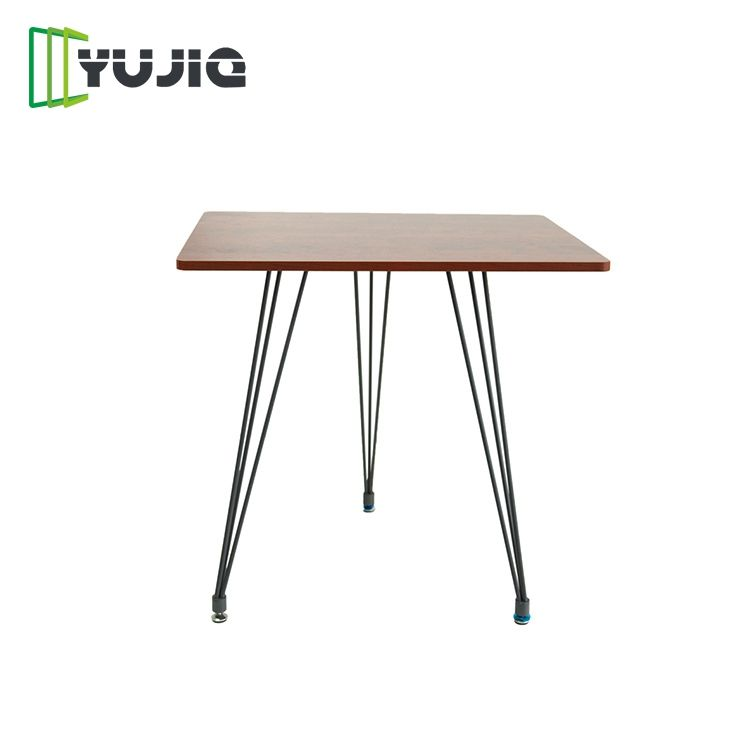 Cheap thin espresso shopping table top for cafe hour