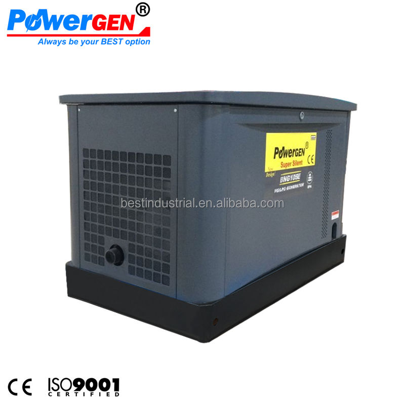 Dual Fuel !!! 60dB!!! POWERGEN Home use LPG/NG Super Silent ARVEK Type Liquid Propane/Natural Gas Generator 10KVA