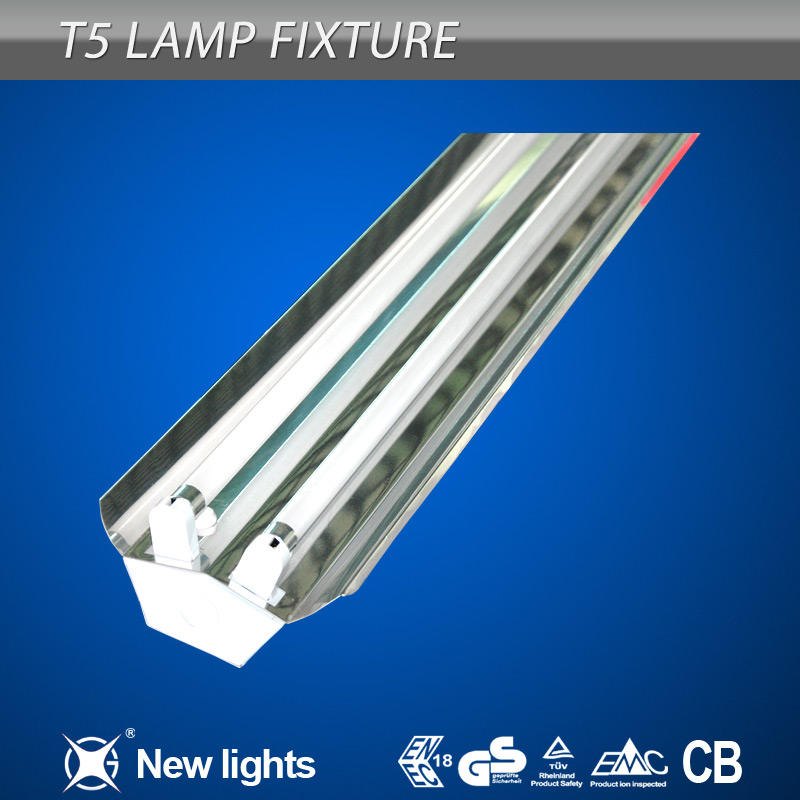T5 Single/Twin Fluorescent Light Fixture with Diffuser