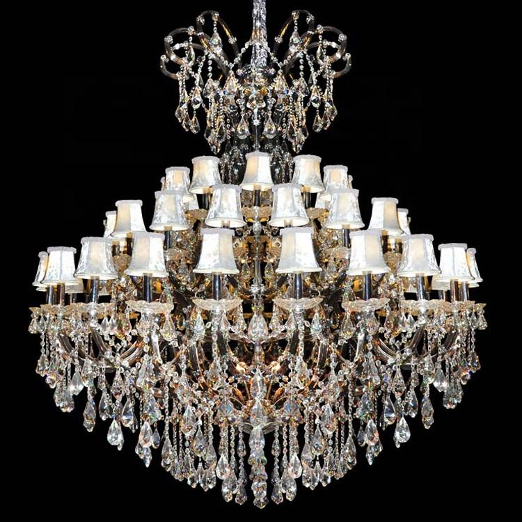 Modern Crystal Chandelier Big Hanging Lighting Top Quality Egypt Asfour Crystal Maria Theresa Chandelier Light Fixture CZ6053/35