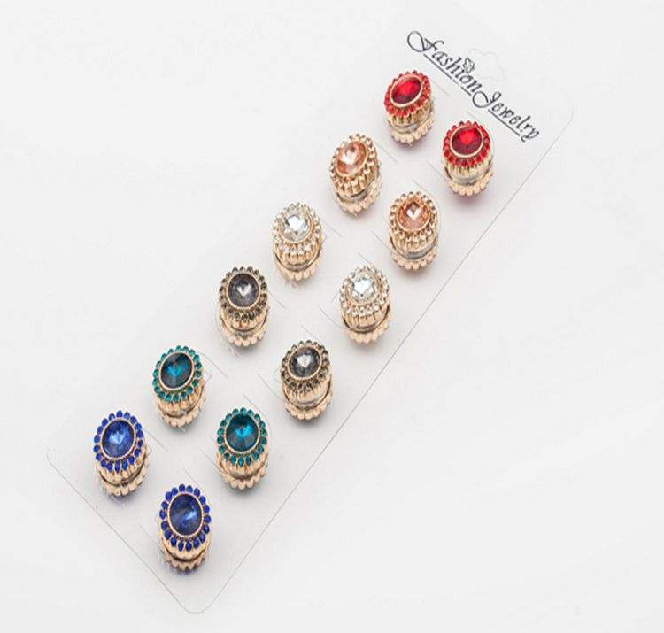 Wholesale Crystal Magnetic Hijab Pins Wedding Accessory Brooches