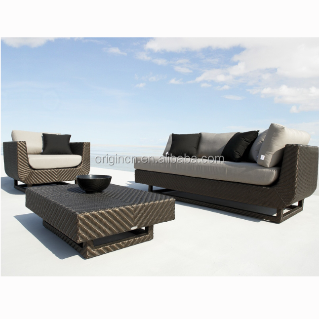 Special weaving friends chatting modern sofa garden sets furniture outdoor