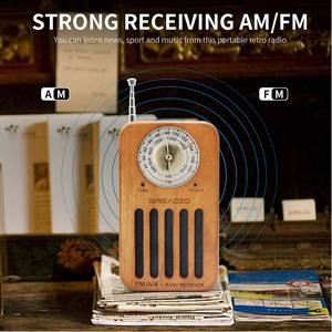 portable vintage home decor wireless mini bluetooth speaker with am fm radio