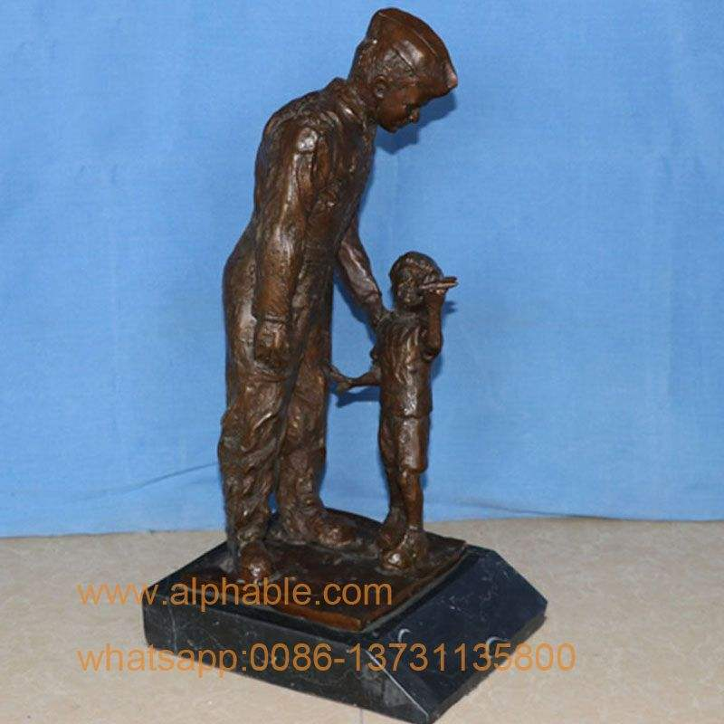 Customized Design Bronze Figures Bronze Soldier Statues