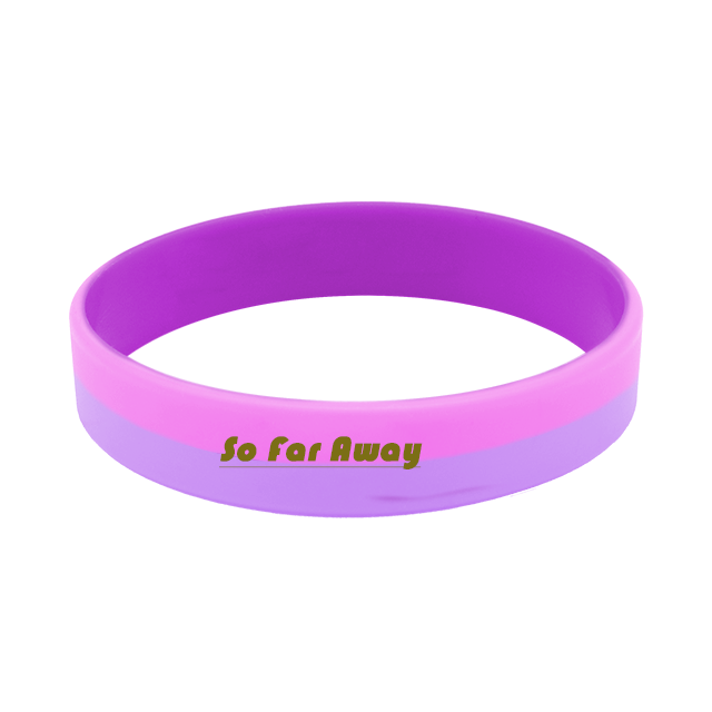 5 Down Syndrome Awareness Bracelets Debossed Color Filled Silicone Wristbands