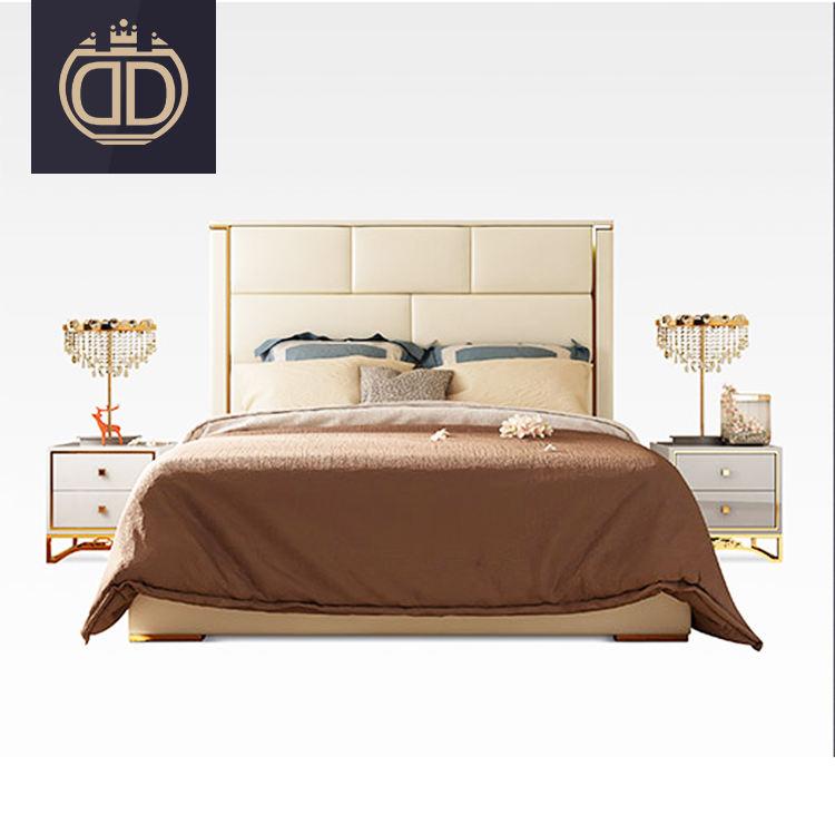 Moderne dernière bois cadre de luxe double d'ameublement conçoit lit king size en cuir lit <span class=keywords><strong>chambre</strong></span> meubles <span class=keywords><strong>chambre</strong></span> ensemble