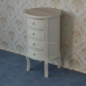 cheap modern champagne round nightstand with 4 drawers for sale