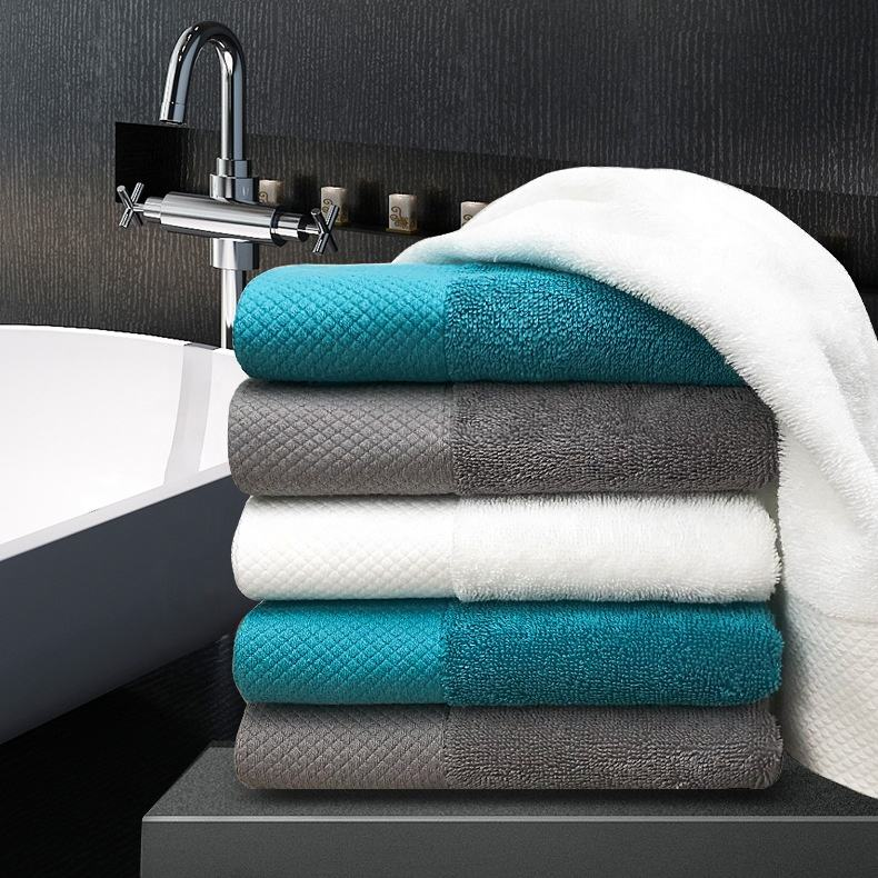 Custom logo super quality absorbent thick hotel bath towel China supply turkey cotton