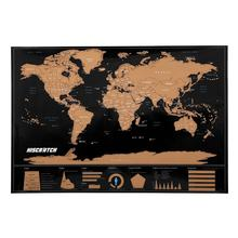 Large Travel scratch off world map printing with US States and Canada State