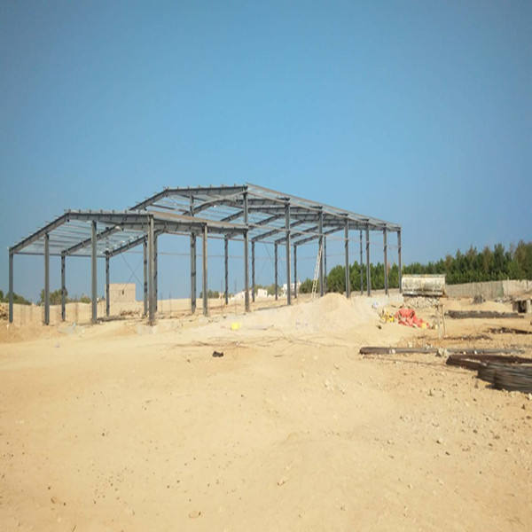 Qingdao low cost portable quick build large-span prefabricated steel structure warehouse