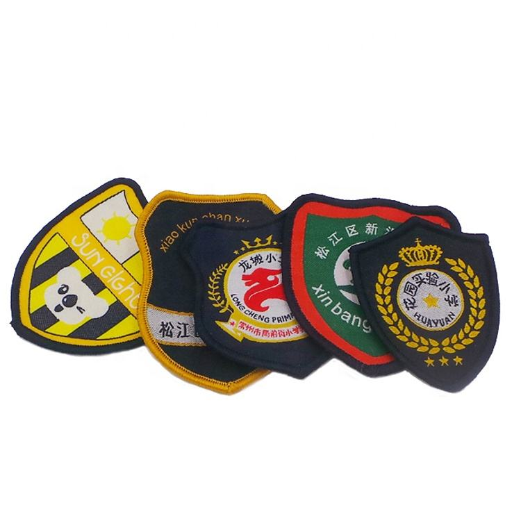 Nigeria customized Factory cheap price garment uniform clothing patches emblem students school logo woven badge