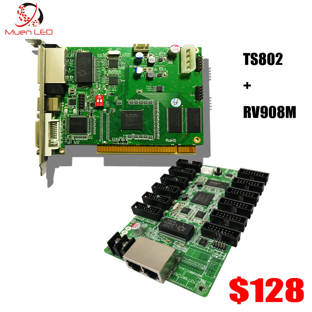 LINSN Full Color Video LED Control System,TS802D LED Sending Card + RV908 LED receiving card,P5/P6/P8/P10 /P16 LED Display