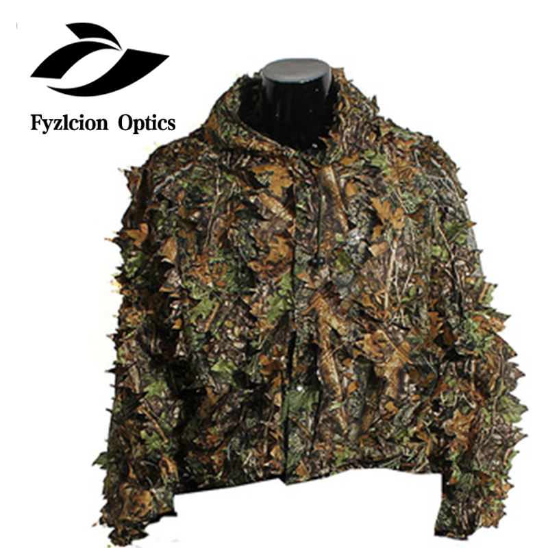 Ghillie Suit Woodland Camo Camouflage Clothing 3D Jungle Hunting
