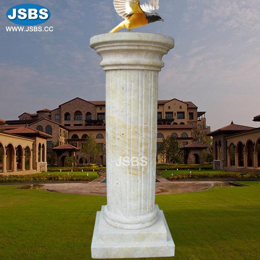 cheap price antique limestone carved column