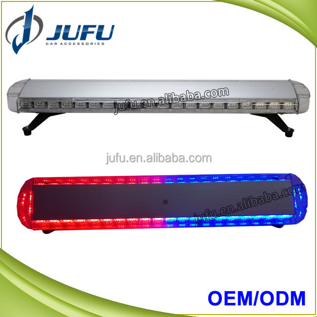46 inches red blue amber vehicle roof police flashing light emergency warning strobe light bar