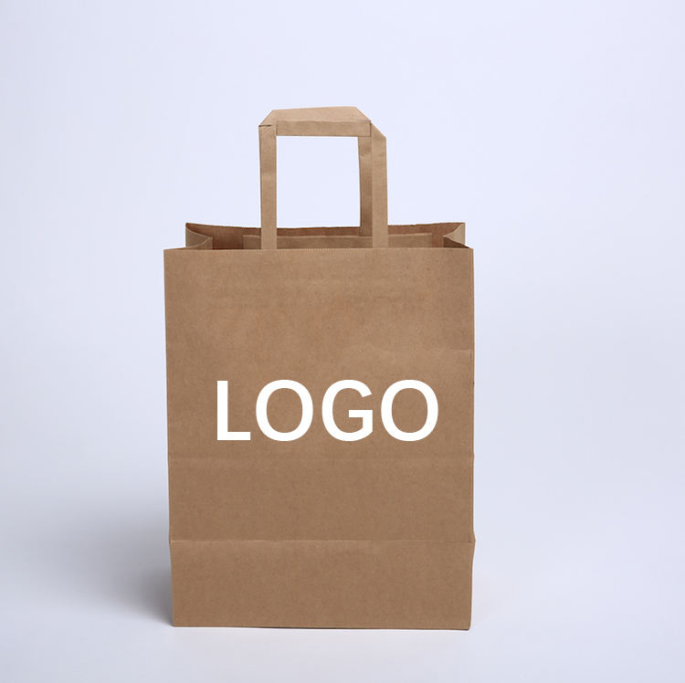 10% OFF! recyclable kraft paper bag white color with your own logo printed