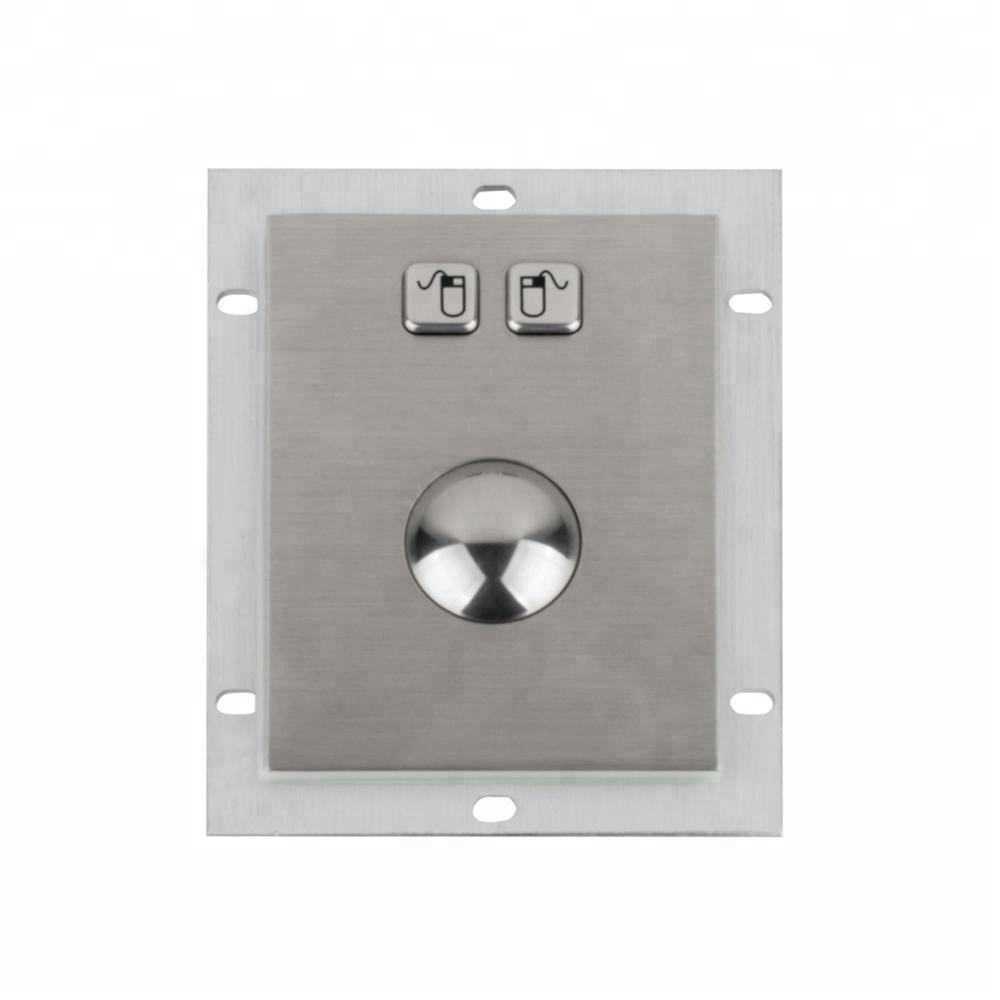 Industrial USB PS2 wired stainless steel panel mounted optical trackball mouse touch pad mouse