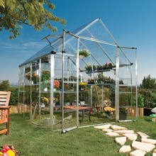 Good Quality Outdoor Aluminum Frame Garden Greenhouse For Orchid