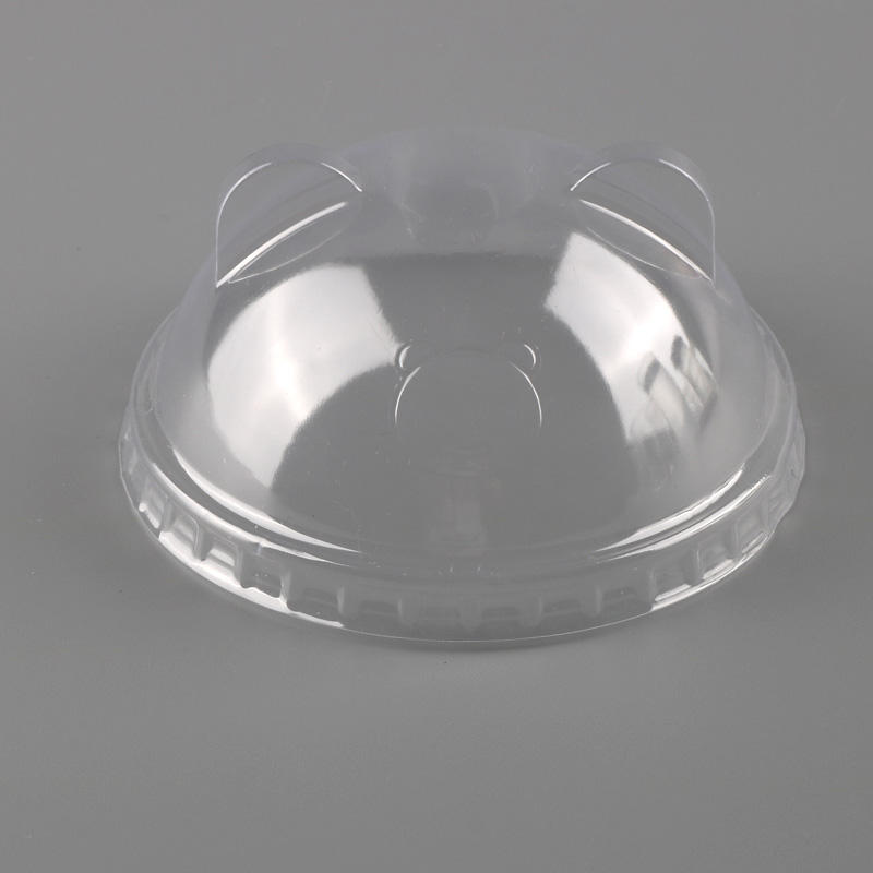 Clear Plastic 90mm Dome Lid For Disposable PP Cup