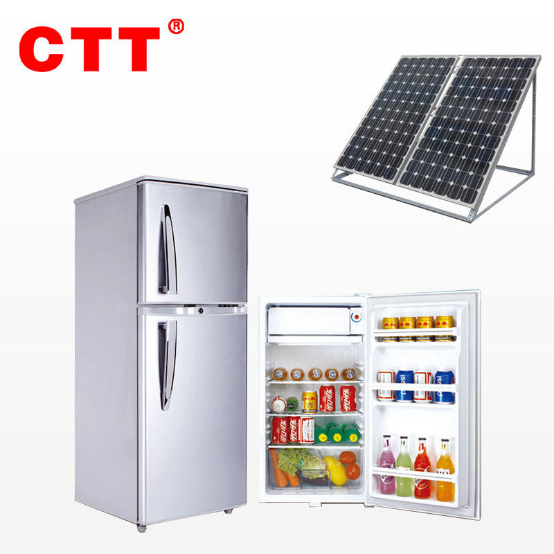 CTT brand dc 12 volt solar refrigerator for homes