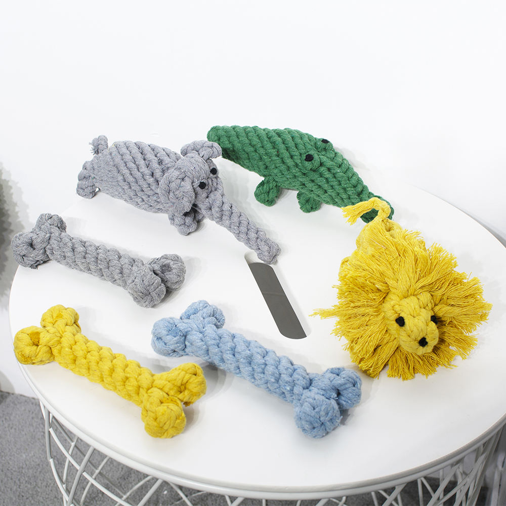 wholesale Plush Dog Toy Durable Pet Toys Pet Dog Cotton Rope Chew toy