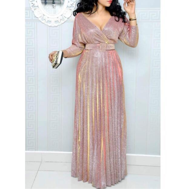 Fancy Three Quarter Sleeve Length Straight With Sashes Sequined Evening Dresses Women