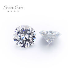 Wholesale Synthetic Gemstone White Round brilliant Cut Loose Moissanites,Customized diamond wedding ring