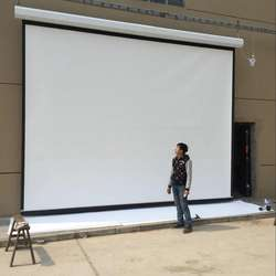 "factory 150"" 16:9 motorized electric projector screen"