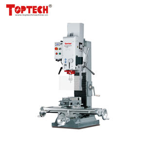 BF30 electronically controlled 3 gears drilling milling machine with spindle speed range 100-3100rpm