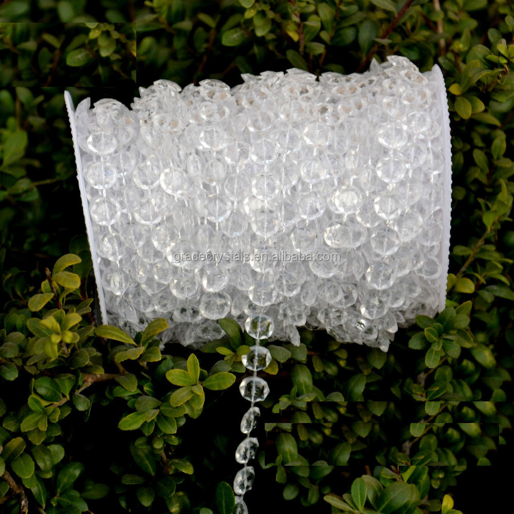 clear acrylic bead strands beads garland plastic beads strand