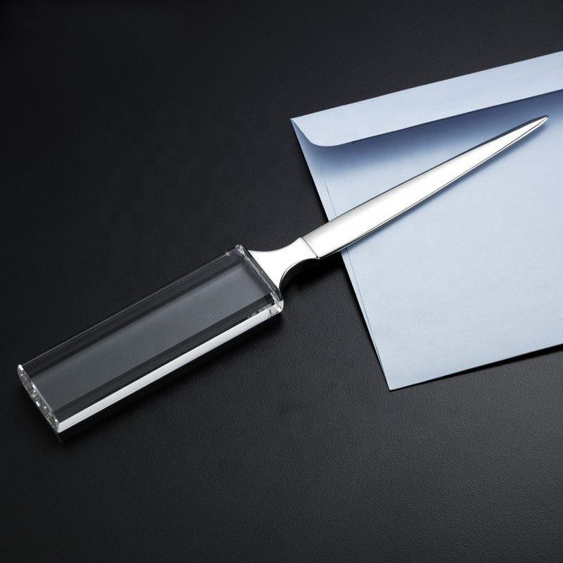 generous crystal business letter opener