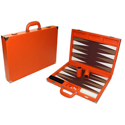 Oranje Lederen Backgammon Game Board