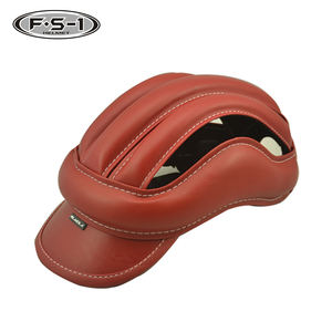 Buy China personalized bicycle helmet CPSC approved leather helmets road bike online