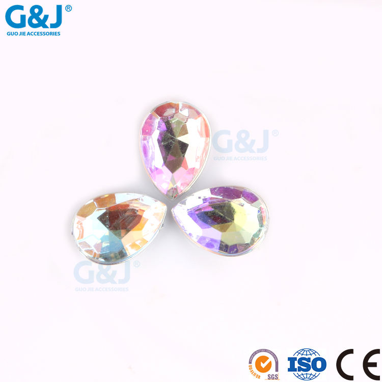 guojie brand YIWU Factory sale tear Shape For Jewelry Making Bling crystal Resin Stone