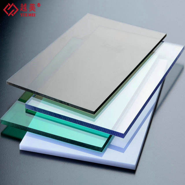 100% Raw Lexan Polycarbonate UV Resistant Plastic Sheets clear solid flat pc panels