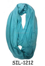 Fashion hot popular USA women's plain solid jersey cotton circle cowl tube infinity scarf