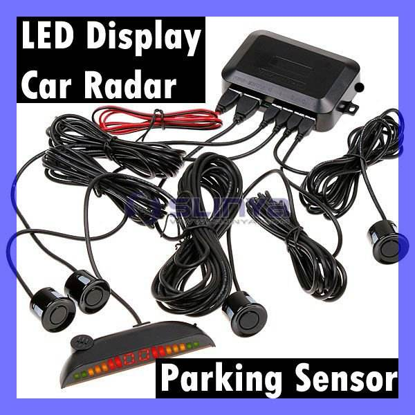 car led parking achteruit 4 sensoren back-radar achter alarm