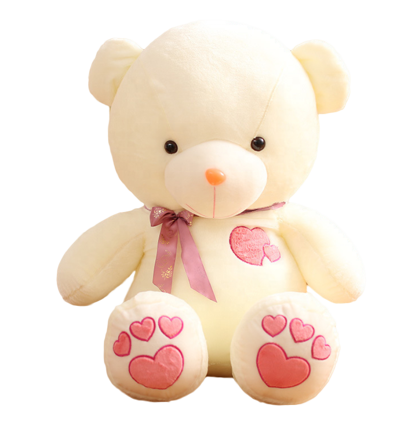 2019 Chinese plush stuffed Love heart to heart teddy bear for Valentine