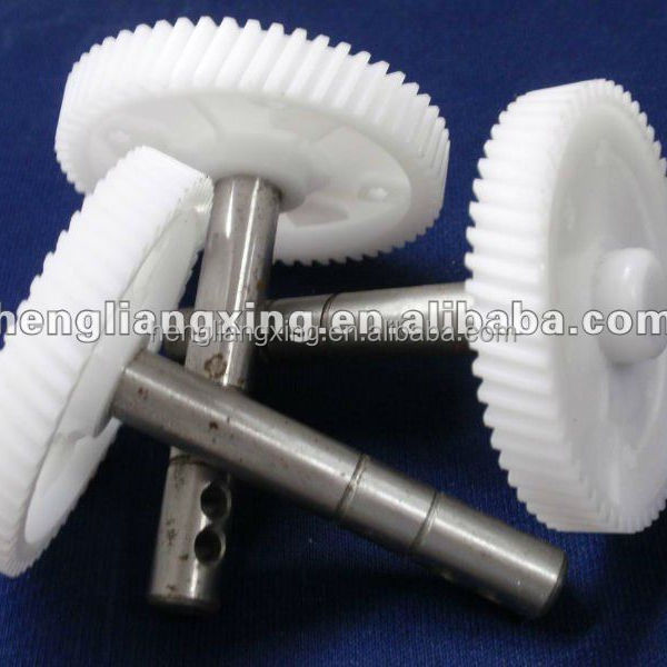 plastic bevel gear with iron shaft
